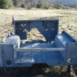 Automotive restoration project sandblasting in Placerville California