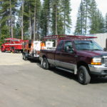 Fire restoration sandblasting for Cal Fire in California 1