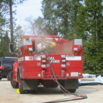 Fire restoration sandblasting for Cal Fire in California 12