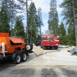 Fire restoration by sandblasting for Cal Fire in California