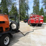 Fire restoration sandblasting for Cal Fire in California 3