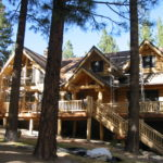Log home sandblasting in Lake Tahoe California