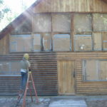 Log home sandblasting in Placerville California