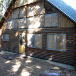 Log home sandblasting in Placerville California 2