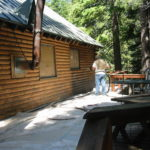 Log home sandblasting in Placerville California 3