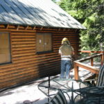 Log home sandblasting in Placerville California 4