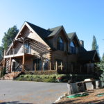 Log home sandblasting in Roseville California