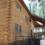 Log home sandblasting in Truckee California 10