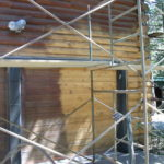 Log home sandblasting in Truckee California 12