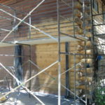Log home sandblasting in Truckee California 14