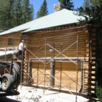 Log home sandblasting in Truckee California 15