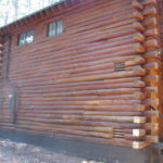 Log home sandblasting in Truckee California 16