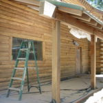 Log home sandblasting in Truckee California 17