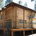Log home sandblasting in Truckee California 18