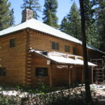 Log home sandblasting in Truckee California 2