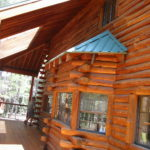 Log home sandblasting in Truckee California 3