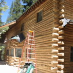 Log home sandblasting in Truckee California 4