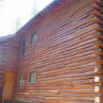 Log home sandblasting in Truckee California 5