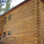 Log home sandblasting in Truckee California 6