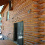 Log home sandblasting in Truckee California 7