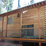 Log home sandblasting in Truckee California 8