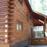 Log home sandblasting in Truckee California 9