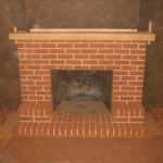 Masonry like this brick fireplace sandblasting in Auburn California creates amazing restoration results