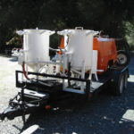 Our mobile sandblasting rig comes to your project location 1