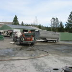 Truck transfer box sandblasting in Grass Valley CA 11