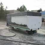 Truck transfer box sandblasting in Grass Valley CA 14