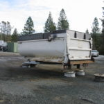 Truck transfer box sandblasting in Grass Valley CA 2
