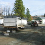 Truck transfer box sandblasting in Grass Valley CA 3