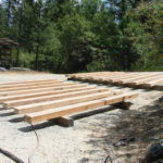 Wood beam sandblasting in Auburn California