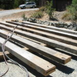 Wood beam sandblasting in Auburn California 3