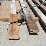Wood beam sandblasting in Auburn California 8