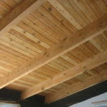Wood beams and ceiling sandblasting in South Lake Tahoe California